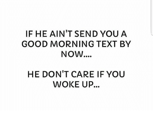 You in morning a texts guy when the The 25
