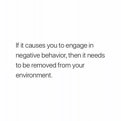 You, Environment, and Then: If it causes you to engage in  negative behavior, then it needs  to be removed from your  environment.