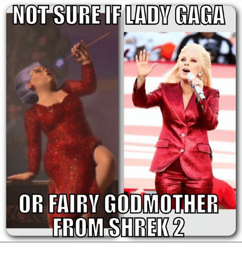 if lady gaga not sure or fairy godmother from shrek 2124854 ✅ 25 best memes about fairy godmother fairy godmother memes
