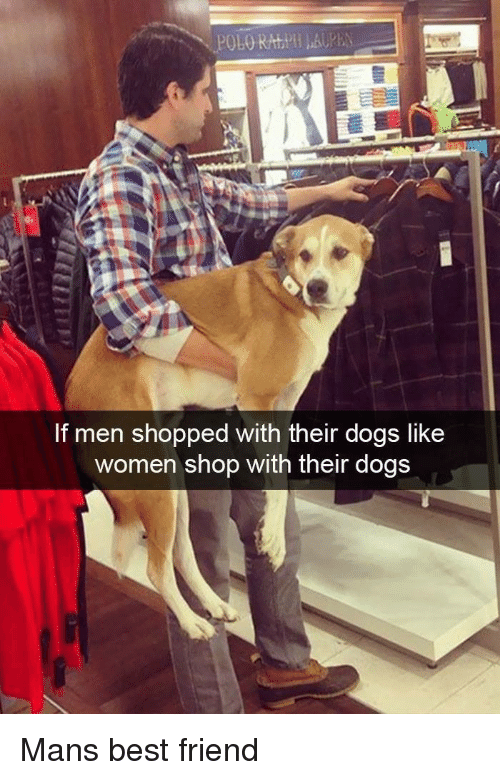 Best Friend, Dogs, and Best: If men shopped with their dogs like  women shop with their dogs Mans best friend