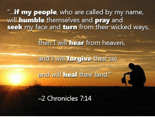 Image result for if my people who are called by my name will humble themselves and pray
