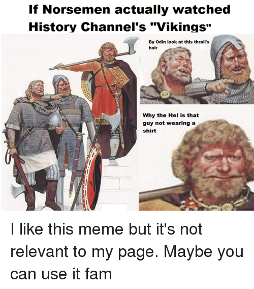 if norsemen actually watched history channels vikings by odin look 1145629 ✅ 25 best memes about history channel vikings history channel,History Channel Funny Memes