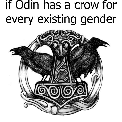 if odin has a crow for every existing gender 2981741 if odin has a crow for every existing gender vikingball meme on,Odin Meme