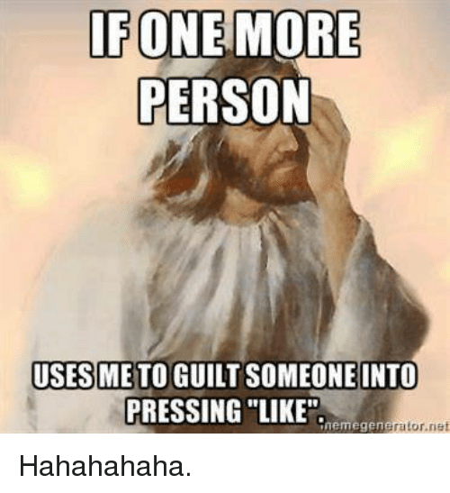 Guilting someone