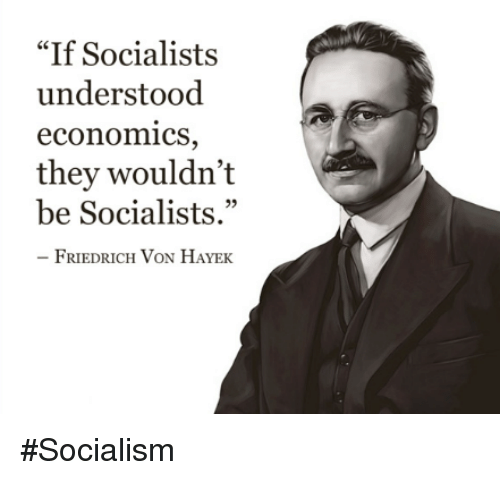 if socialists understood economics they wouldnt be socialists friedrich von 8034356 ✅ 25 best memes about socialist socialist memes,Socialism Memes