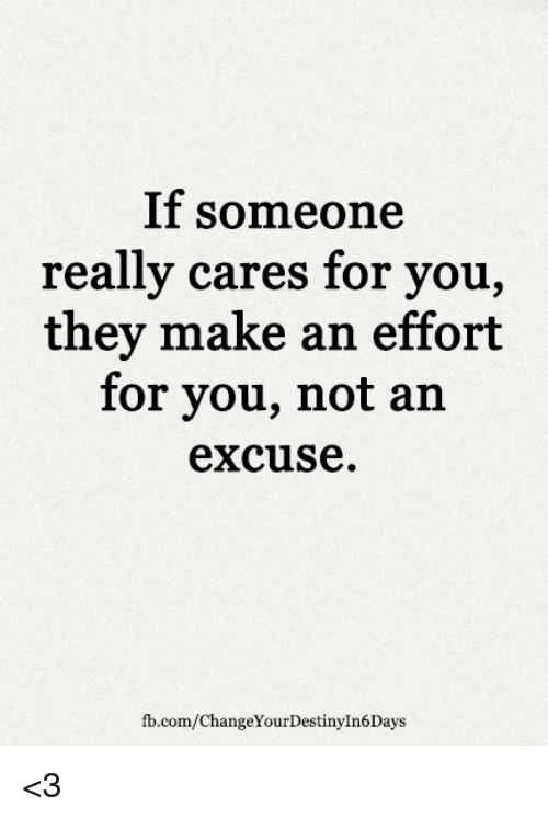 Or tell How you if about someone not cares to