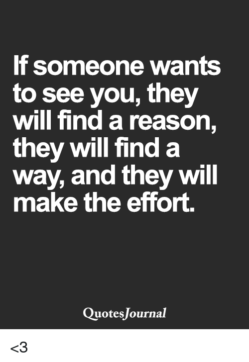 if someone wants you