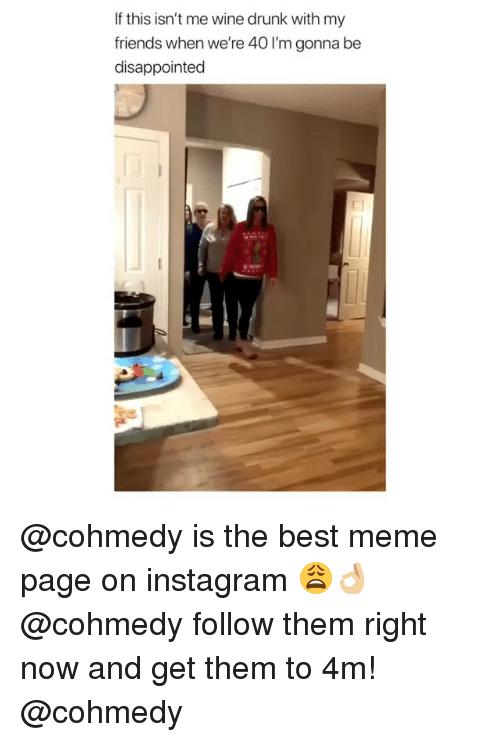 Disappointed, Drunk, and Friends: If this isn't me wine drunk with my  friends when we're 40 I'm gonna be  disappointed @cohmedy is the best meme page on instagram 😩👌🏼 @cohmedy follow them right now and get them to 4m! @cohmedy