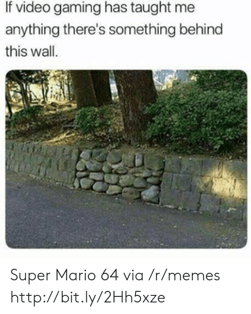 Memes, Super Mario, and Mario: If video gaming has taught me  anything there's something behind  this wall Super Mario 64 via /r/memes http://bit.ly/2Hh5xze