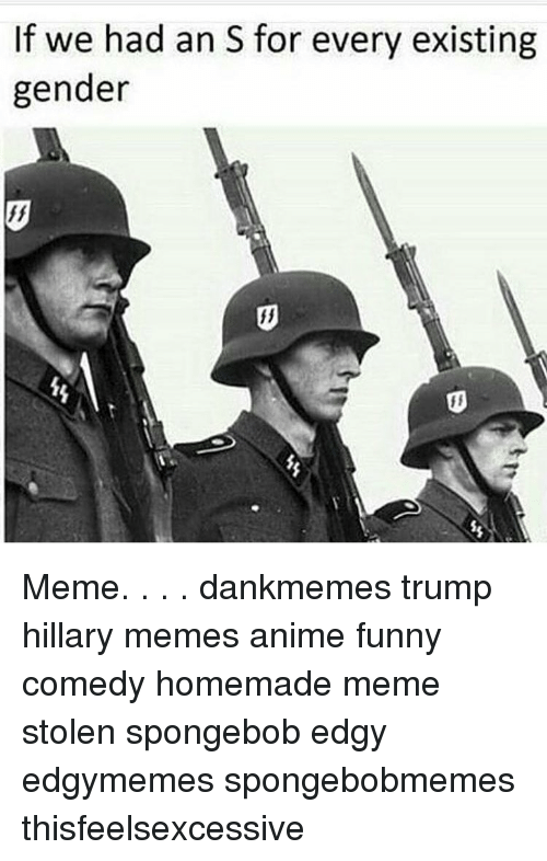 if we had an s for every existing gender meme 11955011 if we had an s for every existing gender meme dankmemes trump