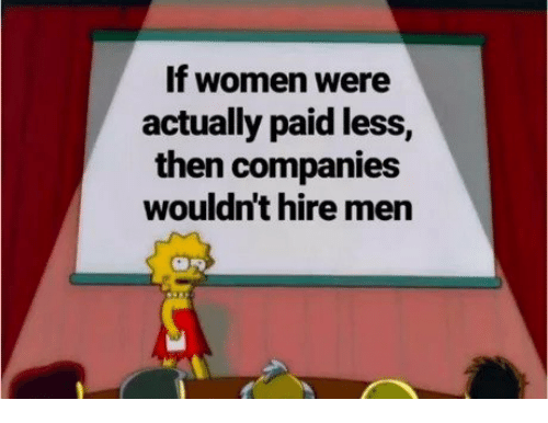 Women, Companies, and Men: If women were  actually paid less,  then companies  wouldn't hire men