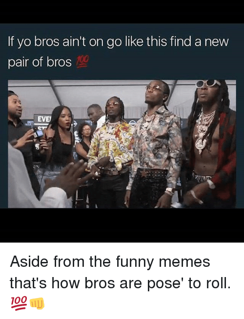 Anaconda, Funny, and Memes: If yo bros ain't on go like this find a new  pair of bros  100  EVE Aside from the funny memes that's how bros are pose' to roll. 💯👊