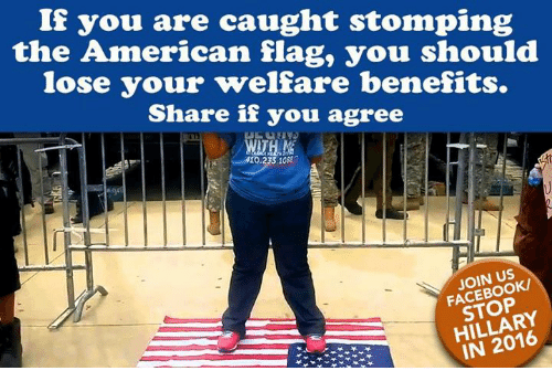 If You Are Caught Stomping the American Flag You Should Lose