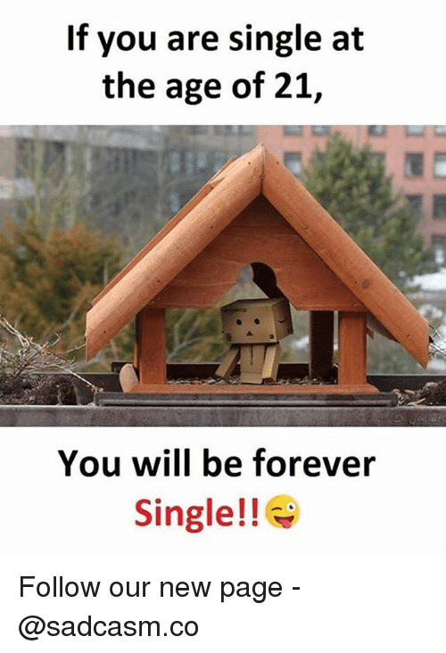 Memes, Forever, and Single: If you are single at  the age of 21,  You will be forever  Single!! Follow our new page - @sadcasm.co