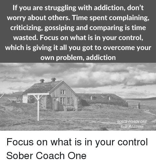 overcoming addiction on your own