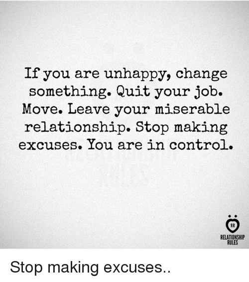 Control, Change, And Job: If You Are Unhappy, Change Something. Quit