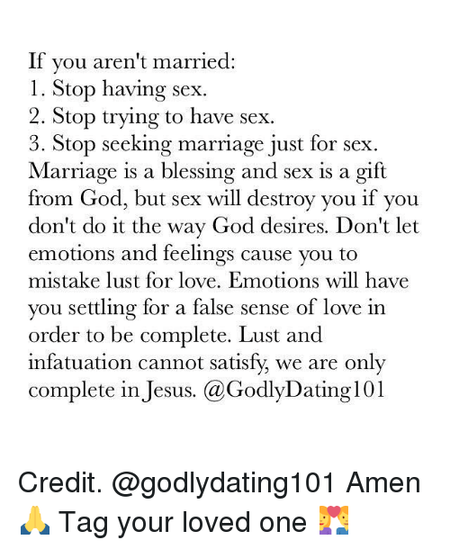 godly dating and feelings of love