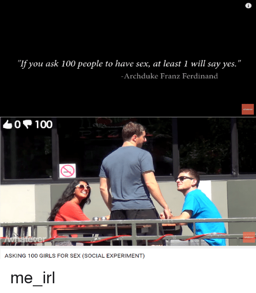 """Girls, Sex, and Socialism: """"If you ask 100 people to have sex"""