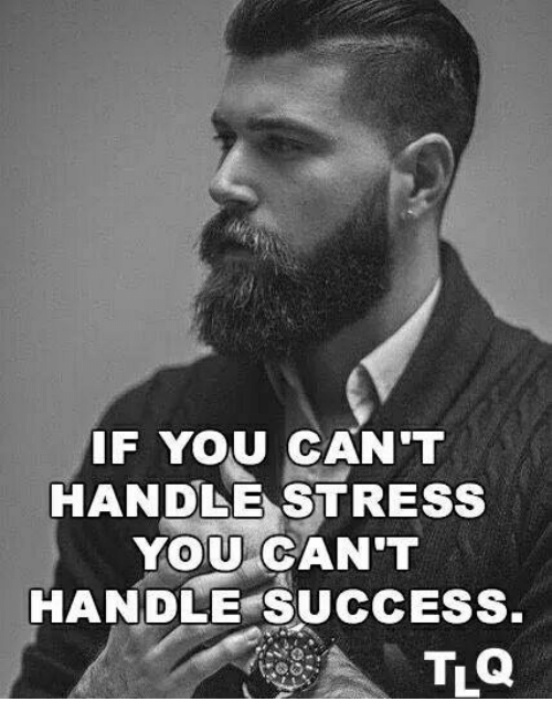 if you cant handle stress you cant handle success 30787605 if you can't handle stress you can't handle success meme on me me