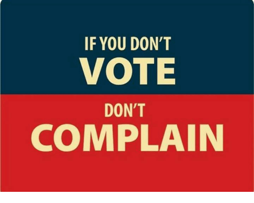 Image result for if you don't vote