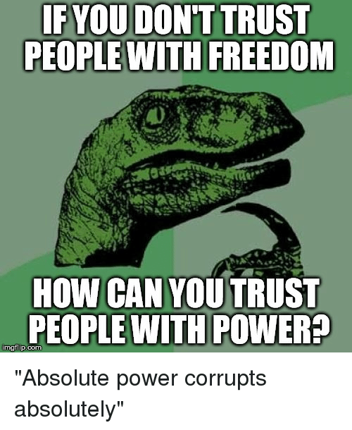 power corrupts people