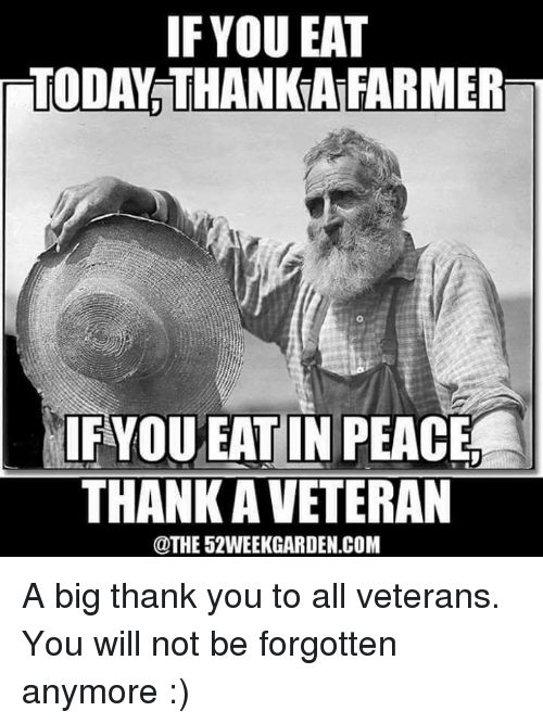 if you eat today thankafarmer fyou eat in peace thank 16240251 if you eat today thankafarmer fyou eat in peace thank aveteran