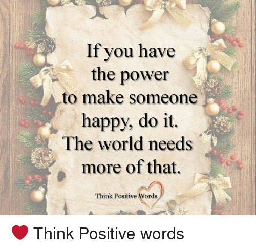 words to make someone happy