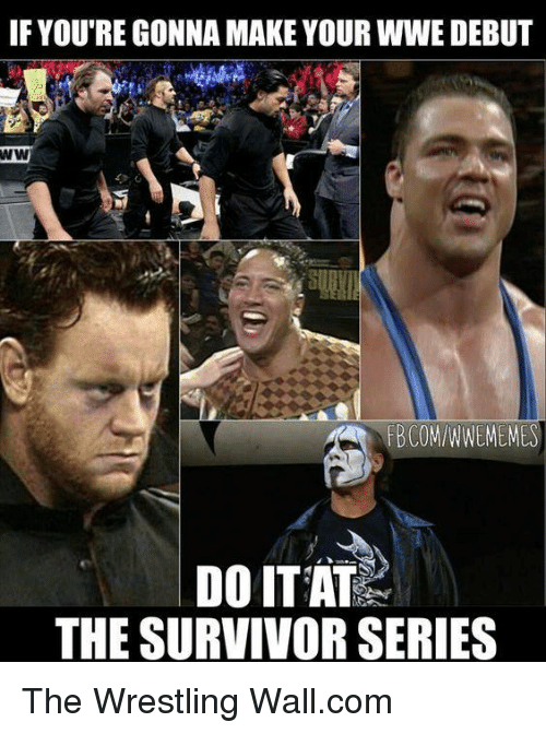 Memes, Wrestling, and World Wrestling Entertainment: IF YOU REGONNA MAKE YOUR WWE DEBUT  DO ITAT  THE SURVIVOR SERIES The Wrestling Wall.com