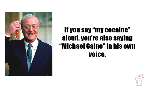 Image result for michael caine my cocaine meme