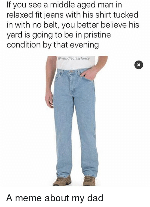 if you see a middle aged man in relaxed fit 24072083 if you see a middle aged man in relaxed fit jeans with his shirt,Blue Jeans Meme