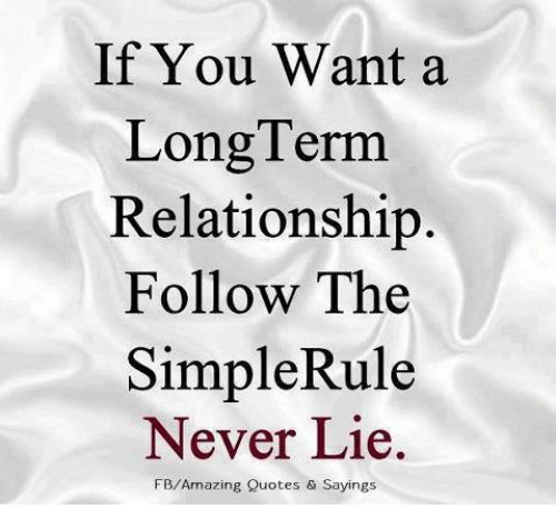 Lie Quotes For Relationships If You Want a LongTerm Relationship Follow the Simple Rule Never  Lie Quotes For Relationships