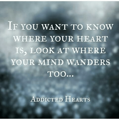 If You Want To Know Where Your Heart Is Look At Where Your Mind