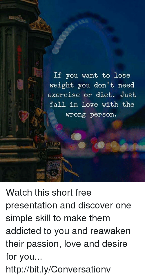 do you lose weight when you fall in love
