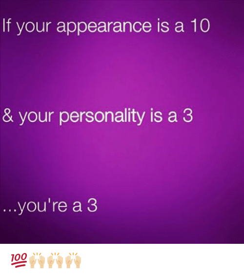 what does your appearance say about your personality
