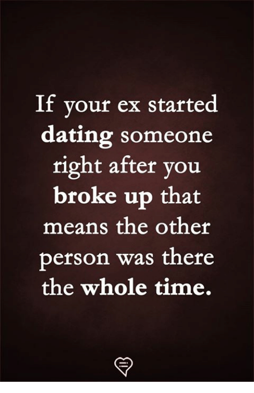 Dating a man who recently broke up