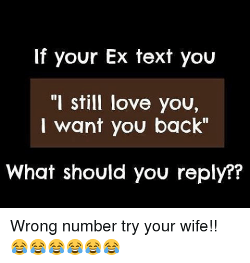 If Your Ex Text You I Still Love You I Want You Back What