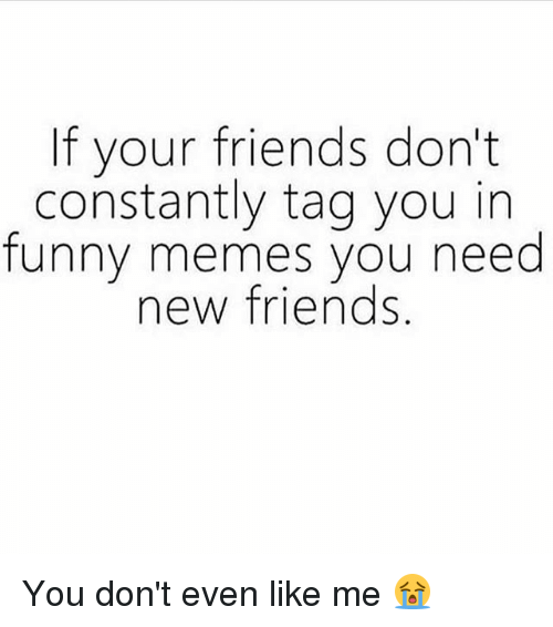 If Your Friends Dont Constantly Tag You In Funny Memes You Need New