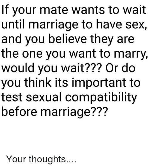 Sexual compatibility in marriage