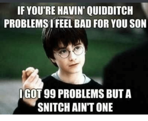 if youre havin quidditch problems i feel bad for you 29144103 if you're havin quidditch problems i feel bad for you son dgot 99