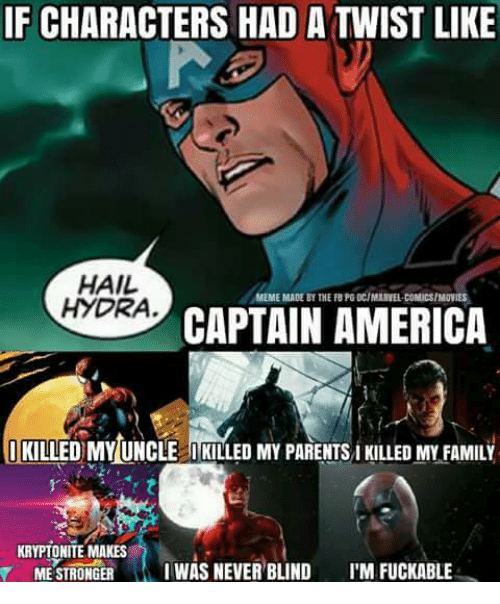 ificharacters had a twist like hail ameme made by the 14664280 25 best hydra captain america memes captain america memes
