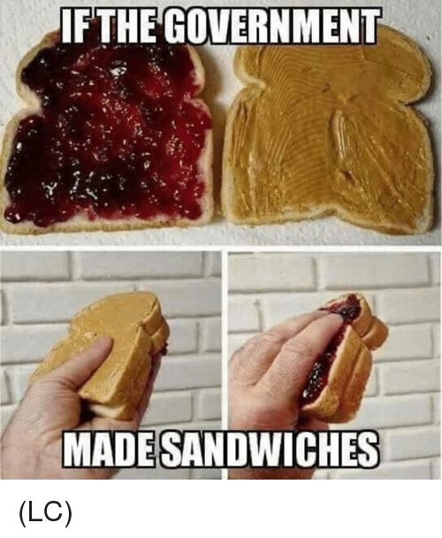 Memes, Government, and 🤖: IFTHE GOVERNMENT  MADESANDWICHES (LC)