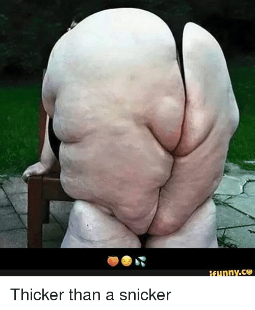 ifunnyco thicker than a snicker meme on me me