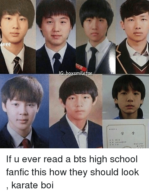 IG Boxsmiletae if U Ever Read a Bts High School Fanfic This How They