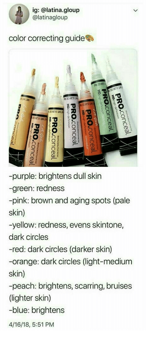 Ig Color Correcting Guidees 820 14 20820 -Purple Brightens Dull Skin
