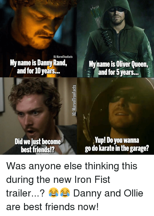 ig marvel tnuefacts my name is danny rand my name 13981271 ig marvel tnuefacts my name is danny rand my name is oliver queen,Iron Fist Meme