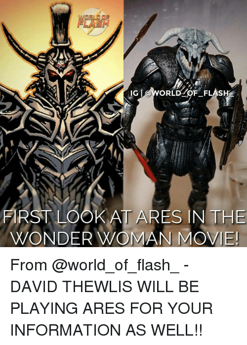 ig world of flas first look at ares in the wonder woman movie from