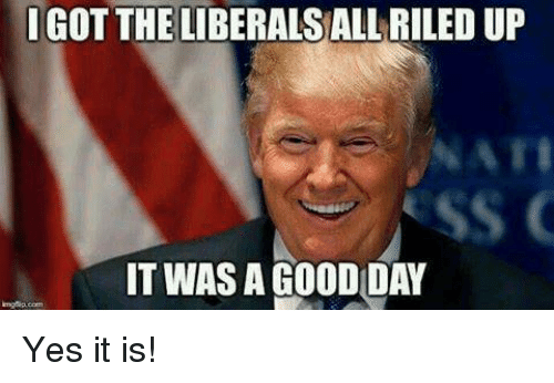 Igo The Liberals All Riled Up It Was A Good Day Yes It Is