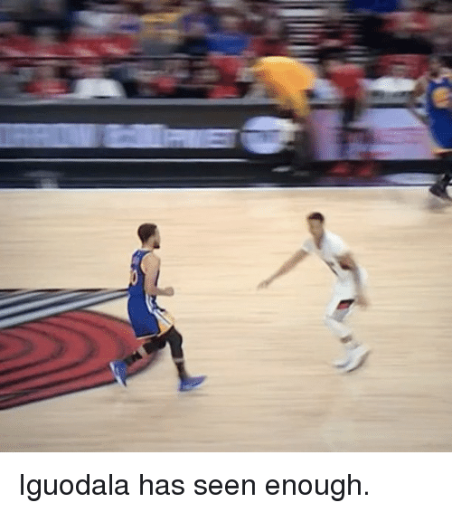 Basketball, Golden State Warriors, and Sports: Iguodala has seen enough.
