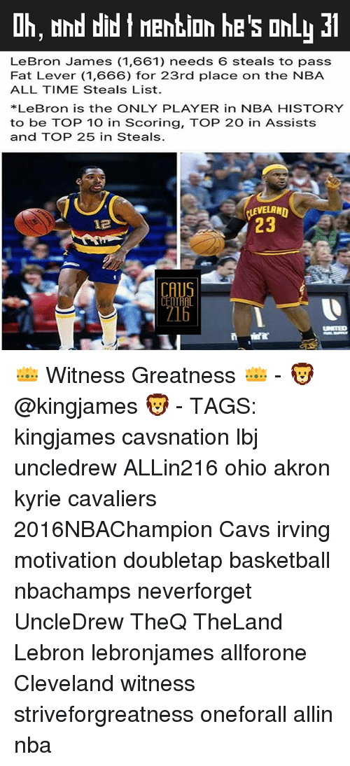 51b73384414 Ih and Did T Mention He s OnLL 31 LeBron James 1661 Needs 6 Steals ...