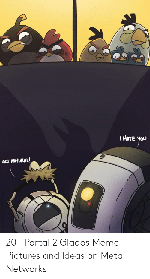 Ihate You Act Nahural 20 Portal 2 Glados Meme Pictures And Ideas